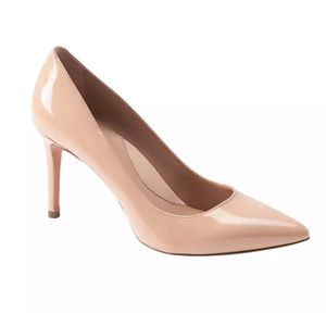 Banana Republic Nude Patent Madison 12 Hr. Pumps
